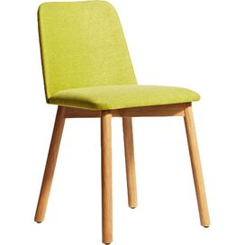 Chip Chair in White Oak/Bright Green