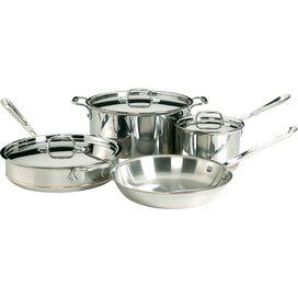 All-Clad 7-Piece Copper Core Cookware Set