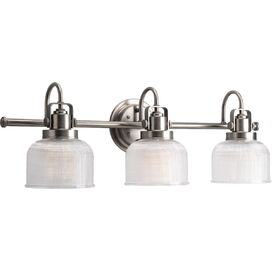 Trista 3-Bulb Vanity Light in Antique Nickel
