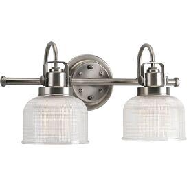 Trista 2-Bulb Vanity Light in Antique Nickel