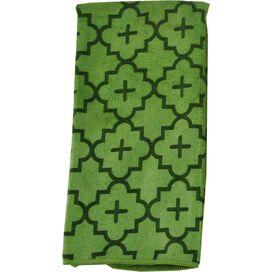 Quatrefoil Dishtowel in Vineyard Green (Set of 2)