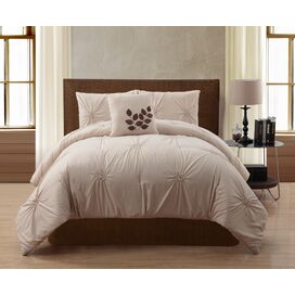 London Comforter Set in Taupe