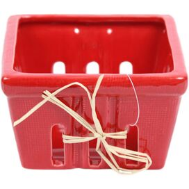 Ceramic Berry Basket in Red