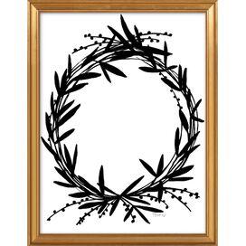 Black Wreath Framed Print