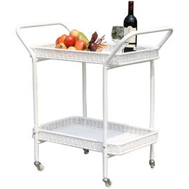 Stephen Indoor/Outdoor Serving Cart in White