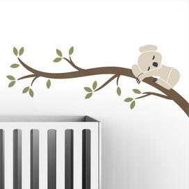 Snoozy Koala Wall Decal in Light Beige