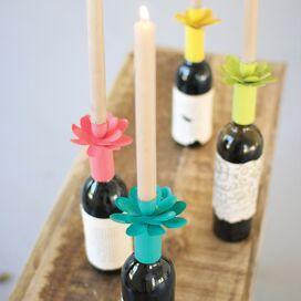 Dahlia Bottle Topper Candleholder (Set of 4)