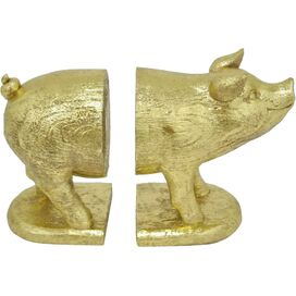 Playful Pig Bookends