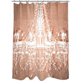 Dramatic Entrance Rose Shower Curtain, Oliver Gal