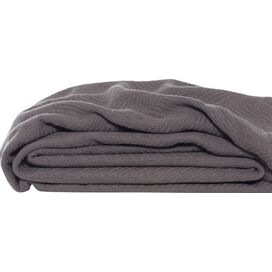 Eddie Bauer Herringbone Cotton Throw Blanket in Mushroom