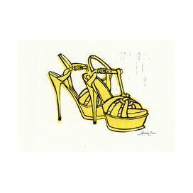 YSL Tribute Sandals Giclee Print, Artfully Walls