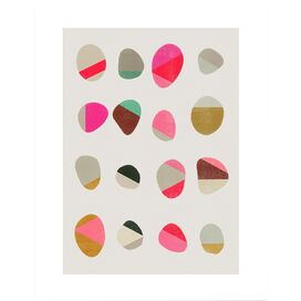 Painted Pebbles Giclee Print, Artfully Walls