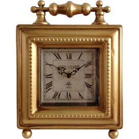 Frame Table Clock in Gold