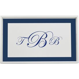 Personalized Kalia Tray in Sapphire