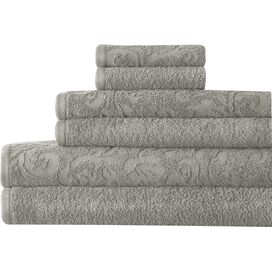 6-Piece Egyptian Cotton Towel Set in Gray