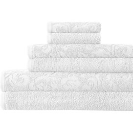 6-Piece Egyptian Cotton Towel Set in White