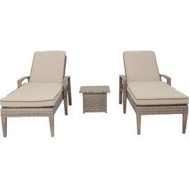 3-Piece Ferrara Patio Chaise & Table Set