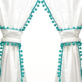 Paulina Curtain Panel in Turquoise