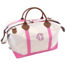 Personalized Weekender in Light Pink
