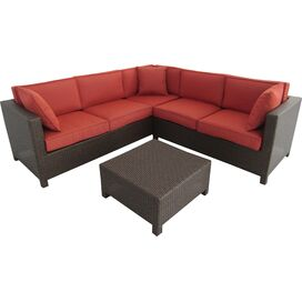 3-Piece Jodie Patio Sectional Set in Terracotta