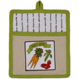 2-Piece Farmers' Market Dishtowel & Oven Mitt Set