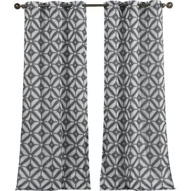 Kyra Curtain Panel in Steel (Set of 2)