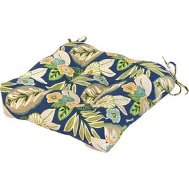 Olson Patio Chair Cushion in Blue Floral