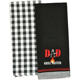 Grillmaster Dad Dishtowel (Set of 2)