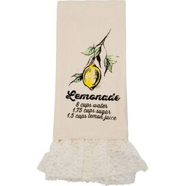 Recipe Tea Towel with Lace
