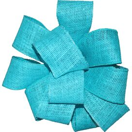 Burlap Ribbon in Turquoise
