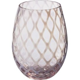 Stacy Stemless Wine Glass in Pink (Set of 4)