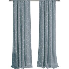 Karissa Curtain Panel in Blue (Set of 2)