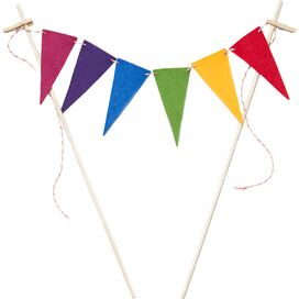 Rainbow Flag Cake Bunting & Mini Cupcake Flags