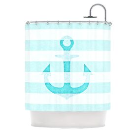 Sea-Loving Shower Curtain in Aqua