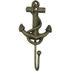 Maritime Wall Hook II in Rustic Gold