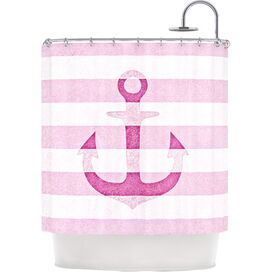 Sea-Loving Shower Curtain in Pink