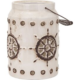 Captain's Wheel Candle Lantern