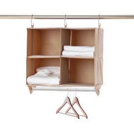 Hanging 4-Cubby Closet Organizer