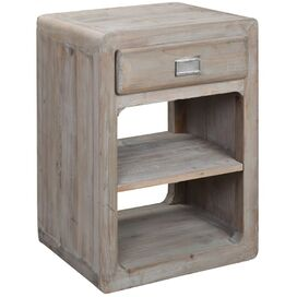 Miles Side Table in Gray Wash
