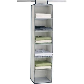 6-Shelf Hanging Closet Organizer (Set of 2)