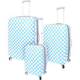 3-Piece Mandi Rolling Luggage Set in Blue