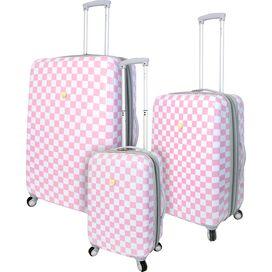 3-Piece Mandi Rolling Luggage Set in Pink