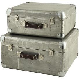 Hagen 2-Piece Suitcase Trunk Set