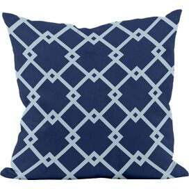 Paula Pillow in Navy (Set of 2)