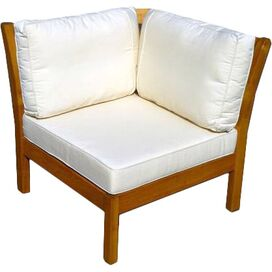 Kamea Patio Corner Chair in Vanilla