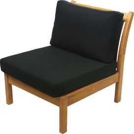Kamea Patio Accent Chair in Black