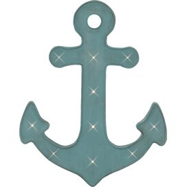 Anchor Marquee Light Wall Decor in Blue