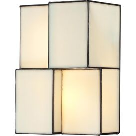 Block LED Wall Sconce in White
