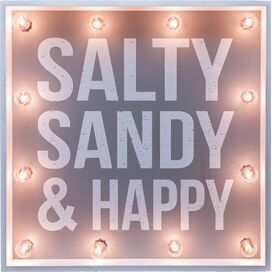 Salty, Sandy, Happy Marquee Sign