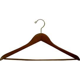 Wood Suit Hanger in Light Walnut (Set of 50)